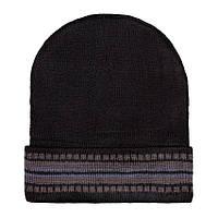 Шапка Beaniqe Cheap warm One size Черно-коричневый 21083, КОД: 1769083