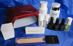 Стартовый набор для покрытия гель лаком Kodi (12 позиций) с лампой гибрид на 36 вт
