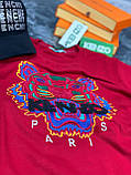 Мужская кофта свитшот KENZO Paris D10147 красная, фото 2