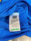 Мужская кофта свитшот KENZO Paris D10146 синяя, фото 3