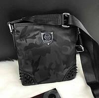 Мужская сумка через плечо, мессенджер, планшетка, барсетка, Philipp Plein