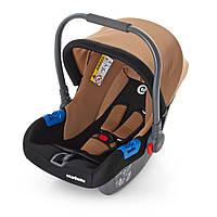 Детское автокресло-переноска Бебикокон для новорожденного 0+ (ME 1009-2) коричневая