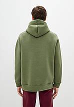 Худи мужской тёплый удлиненный Oversize 02 хаки, фото 2