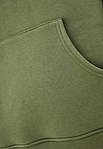 Худи мужской тёплый удлиненный Oversize 02 хаки, фото 3