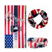 Бафф бандана-трансформер, шарф из микрофибры, 22 флаг США