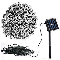 Гірлянда вулична 100 led 10м біла сонячна батарея   гирлянда уличная наружная на солнечной батарее белая