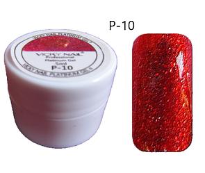 Глиттерный гель VICKI NAIL (гель блестки) красный