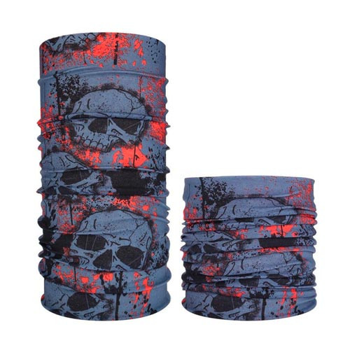 Бафф бандана-трансформер, шарф из микрофибры, 10 черепа
