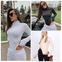 Женское модное трикотажное боди, фото 1