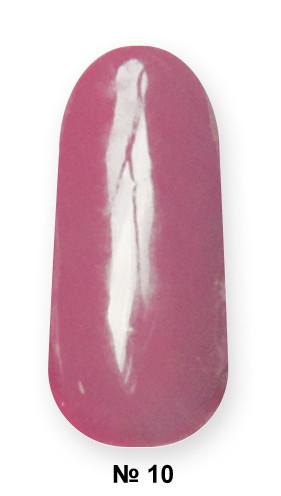 Гель -лак №10 UV Gel-Lacguer SOFIA 8.6 мл США (сірувато пурпурно-червоний)