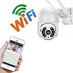 Камера видеонаблюдения наружная IP Wi-Fi PTZ камера Adna Cam-QC2, умная Wi-Fi камера поворотная для улицы, фото 6
