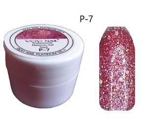 Глиттерный гель VICKI NAIL (гель блестки) розовый