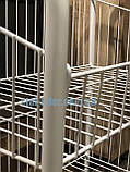 Стеллаж  бытовой или торговый на 2 полки 40 см с колесами, фото 3