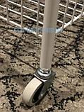 Стеллаж  бытовой или торговый на 2 полки 40 см с колесами, фото 2