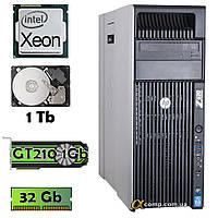 HP Z620 (Xeon E5-1620/32Gb/GT210 1Gb/1Tb) БО