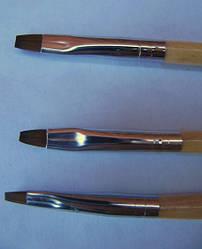 Кисть для геля набор (№6,№4,№2) Kolinsky