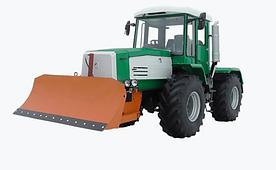 Трактор ХТА-200-10 обладнаний поворотним бульдозерним відвалом.