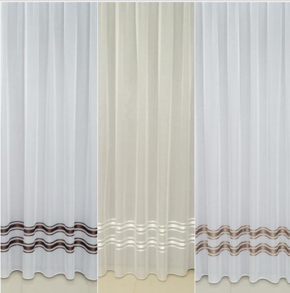 Готовая турецкая тюль батист на окна цвет белый, молочный(обработка сторон + 40 грн)