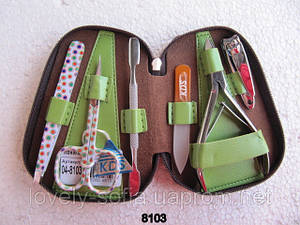 Маникюрный набор KDS с цветным инструментом (6 предметов)