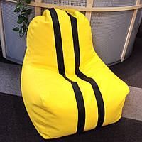 Кресло мешок с полосками из искусственной кожи