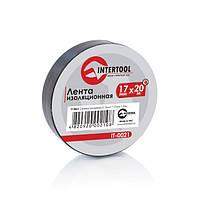 Лента изоляционная 0.15 ммx17 ммx20м черная (упак 10 шт) Intertool IT—0021