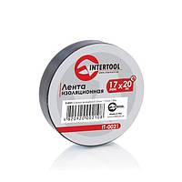 Лента изоляционная 0.15 ммx17 ммx25м черная (упак 10 шт) Intertool IT—0026