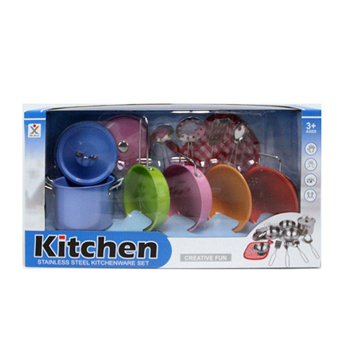 Посуд 988-7 (24шт) каструлі, сковорідка,друшляк,миска,кухонь.набір,метал,в кор-ке,42-11-21,5 см