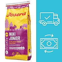 Корм Йозера Міні Юніор Josera Mini Junior для цуценят дрібних порід з качкою і лососем 15 кг