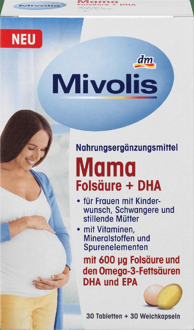 Биологически активная добавка для беременных Mivolis Mama Folsäure + DHA, 60 шт.