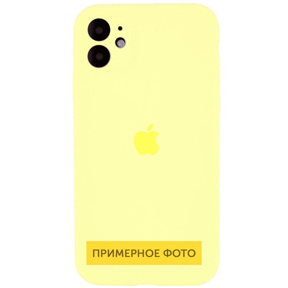 "Чехол Silicone Case Square Full Camera Protective (AA) для Apple iPhone XR (6.1"") Желтый / Mellow Yellow"