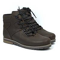 Распродажа последний 46 размер коричневые кожаные зимние мужские ботинки Rosso Avangard Major Payne Brown Craz, фото 1