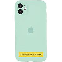 "Чехол Silicone Case Square Full Camera Protective (AA) для Apple iPhone 6/6s (4.7"") Бирюзовый / Light Turquoise"