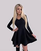 Платье женское нарядное замш чёрный, бутылка, беж, замш 42-44, 44-46
