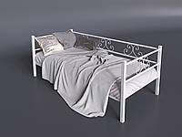 Металлический диван-кровать Самшит Тенеро 800/900 х 1900/200 см белый
