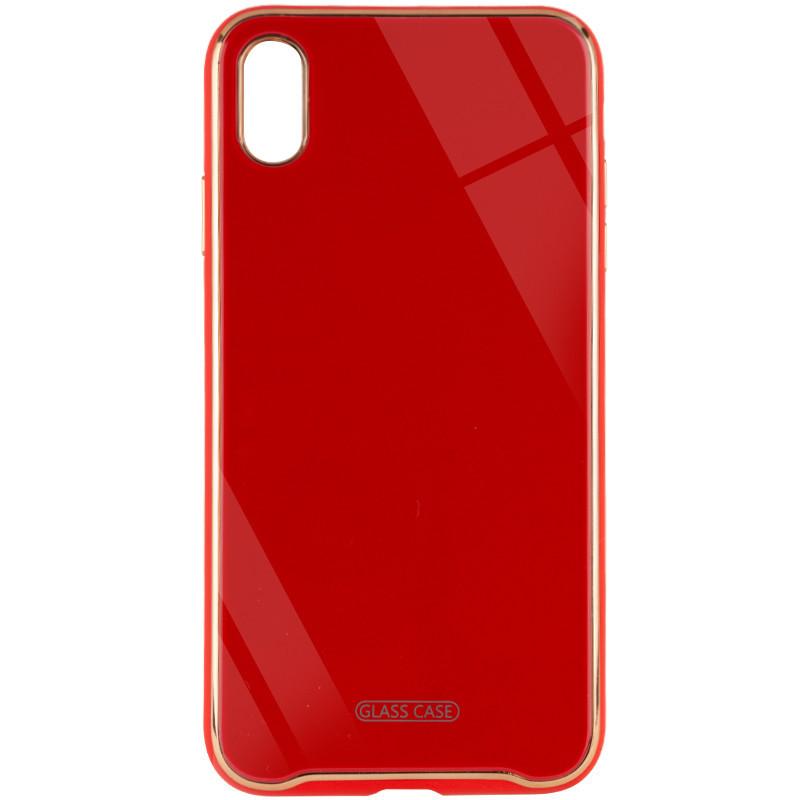 "TPU+Glass чехол Venezia для Apple iPhone XS Max (6.5"") Красный / Red"