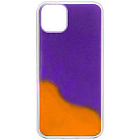 "Неоновый чехол Neon Sand glow in the dark для Apple iPhone 12 mini (5.4"") Фиолетовый / Оранжевый"