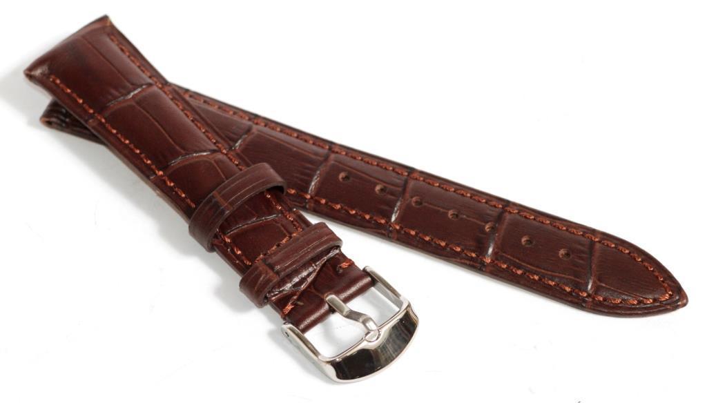 Ремешок кожаный Hightone (Гонконг) коричневый 19 мм