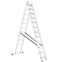 Лестница алюминиевая 3—х секционная универсальная раскладная 3x12ступ. 7.89м Intertool LT—0312