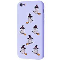 TPU чехол WAVE Fancy для Apple iPhone 7 / 8 / SE (2020) Bear on broom / Light purple