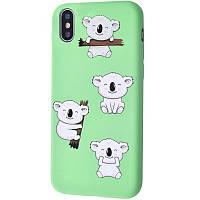 "TPU чехол WAVE Fancy для Apple iPhone XS Max (6.5"") Koala / Mint gum"