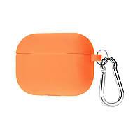 Силиконовый футляр с карабином для наушников AirPods Pro Оранжевый / Vitamin C