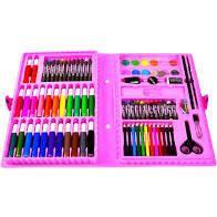 Набор для детского творчества в чемодане из 86 предметов розовый EL-1095