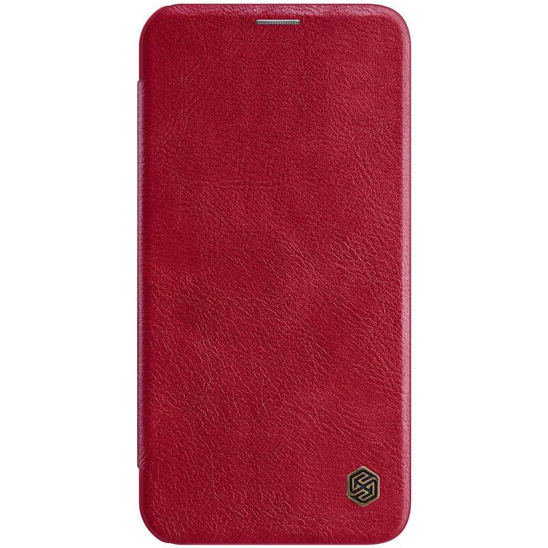 """Кожаный чехол (книжка) Nillkin Qin Series для Apple iPhone 12 Pro Max (6.7"""") Красный"""