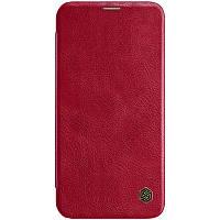 "Кожаный чехол (книжка) Nillkin Qin Series для Apple iPhone 12 Pro Max (6.7"") Красный, фото 1"