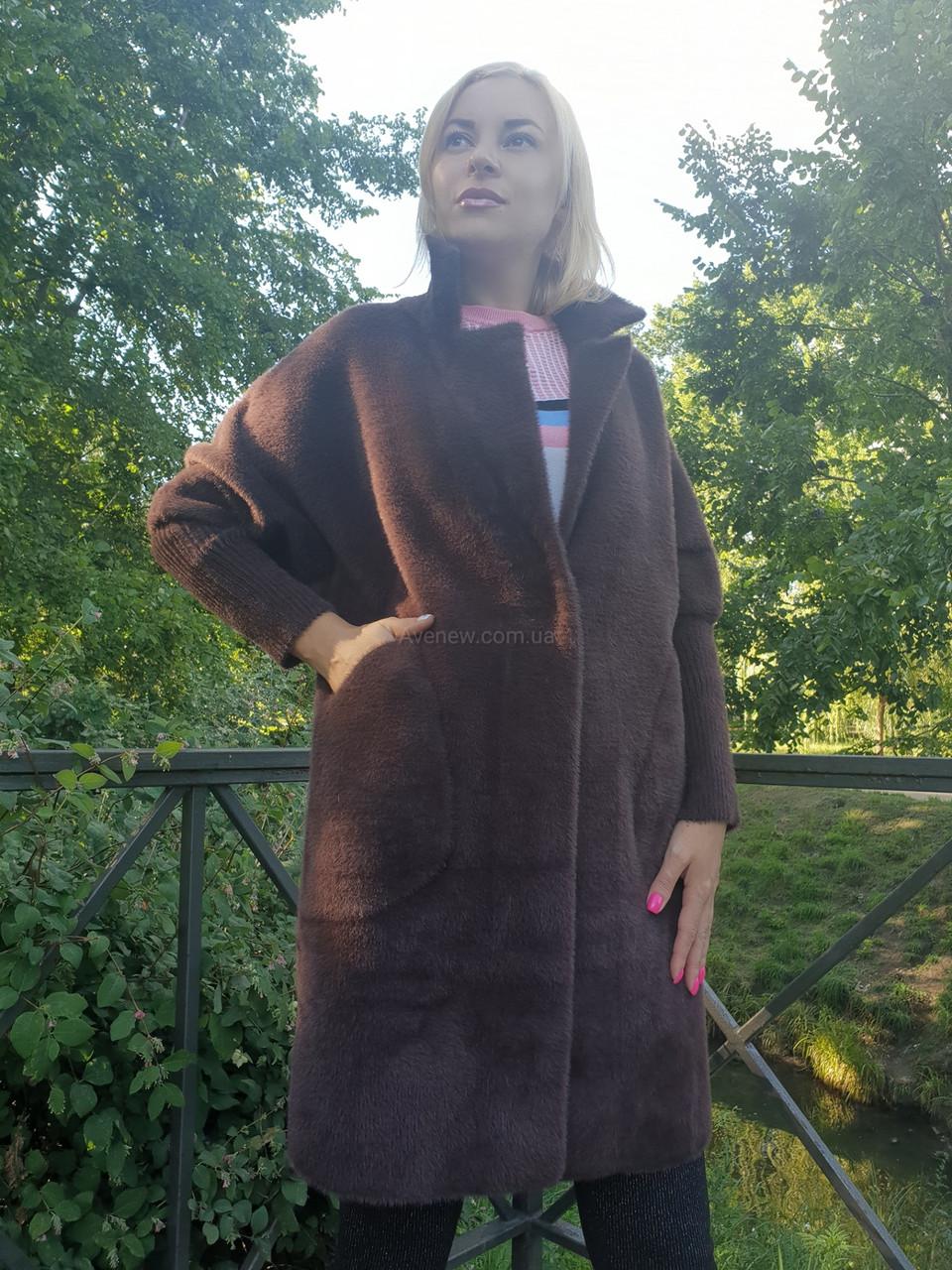 Пальто-кардиган из шерсти альпаки