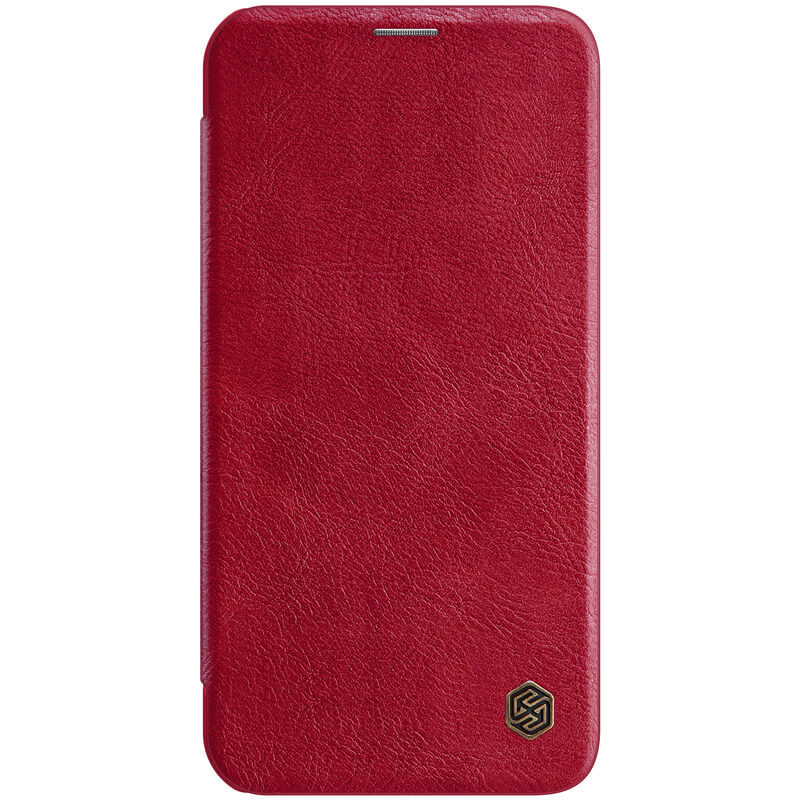 "Кожаный чехол (книжка) Nillkin Qin Series для Apple iPhone 12 mini (5.4"") Красный"