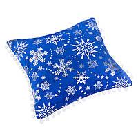 Подушка, в которую можно спрятать подарок. Велюр синий
