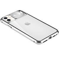 "Чехол Camshield 360 Metall+Glass со шторкой для камеры для Apple iPhone 11 (6.1"") Серебряный"