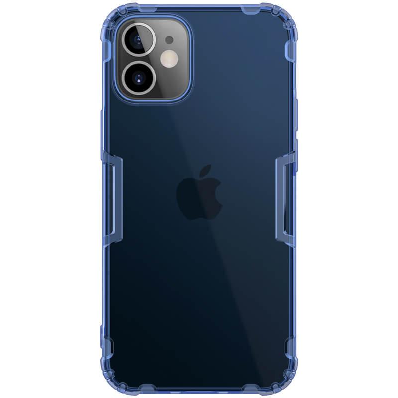 "TPU чехол Nillkin Nature Series для Apple iPhone 12 mini (5.4"") Синий (прозрачный)"