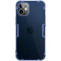 """TPU чехол Nillkin Nature Series для Apple iPhone 12 mini (5.4"""") Синий (прозрачный), фото 1"""